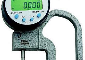 Medidor de espessura de chapa por ultrasom