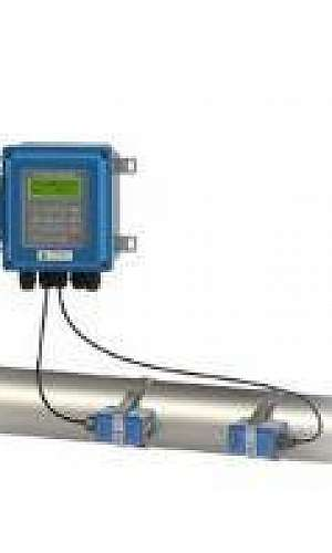 Medidor de vazão ultrassônico fixo