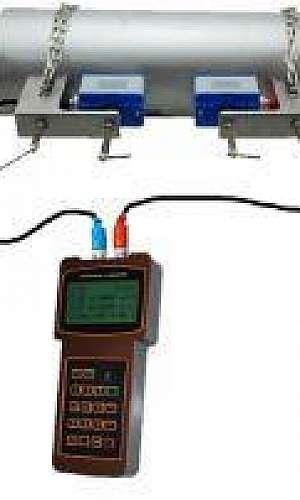 Medidor de vazão ultrassônico portátil