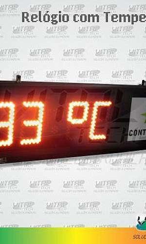 Relogio Eletrônico com temperatura