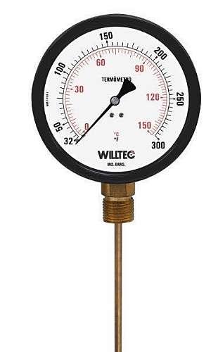 Termômetro bimetálico industrial