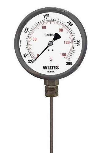 Termômetro bimetálico inox