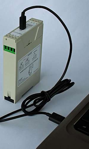 Transmissor de temperatura para trilho din